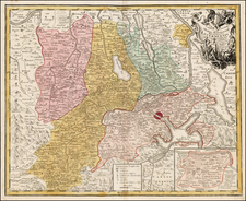 Switzerland Map By Homann Heirs