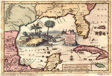 South, Southeast, Texas and Caribbean Map By Pieter van der Aa