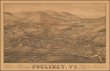New England and Vermont Map By L.H. Burleigh