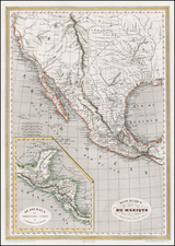 Texas, Southwest, Rocky Mountains and California Map By Charles V. Monin