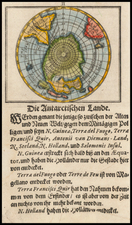 Southern Hemisphere and Polar Maps Map By Johann Ulrich Muller