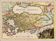 Turkey, Balearic Islands and Turkey & Asia Minor Map By Francois Halma