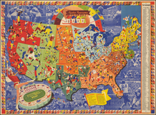 United States Map By F. E. Cheeseman