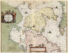 World, Polar Maps, Atlantic Ocean and Canada Map By Johannes van Loon