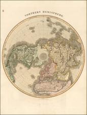 Northern Hemisphere and Polar Maps Map By John Pinkerton