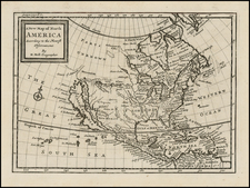 North America and California Map By Herman Moll