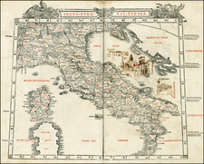 Balkans, Italy and Balearic Islands Map By Bernardus Sylvanus