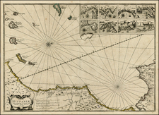 Spain, North Africa and African Islands, including Madagascar Map By Jan Jansson / Willem Barentsz