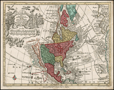 South America, California and America Map By Matthaus Seutter