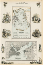Greece, Turkey and Turkey & Asia Minor Map By Archibald Fullarton & Co.