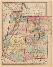 Southwest and Rocky Mountains Map By J. David Williams