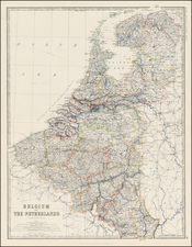 Netherlands Map By W. & A.K. Johnston