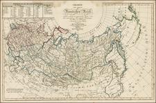 Alaska, Russia and Russia in Asia Map By Adam Gottlieb Schneider