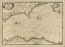 Spain and North Africa Map By Jan Jansson / Willem Barentsz
