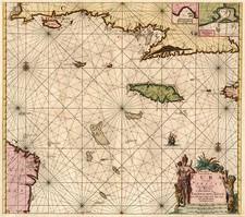 Caribbean Map By Johannes Van Keulen