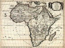 Africa and Africa Map By Guillaume Sanson  &  Pierre Mariette