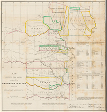 South, Plains and Oklahoma & Indian Territory Map By Washington Hood