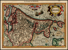 Netherlands Map By Jodocus Hondius - Michael Mercator