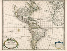 South America and America Map By Philippe Buache