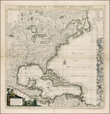 United States, North America and Canada Map By Jean-Baptiste Crepy