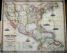 United States Map By Thayer, Bridgeman & Fanning