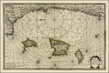 Spain Map By Jan Jansson / Willem Barentsz