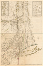 New York State and American Revolution Map By Georges Louis Le Rouge / John Montresor