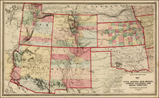 Plains, Southwest and Rocky Mountains Map By H.H. Lloyd