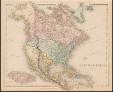 Texas and North America Map By Matthaus Seutter