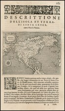 Western Hemisphere and North America Map By Tomasso Porcacchi / Matthaus Seutter
