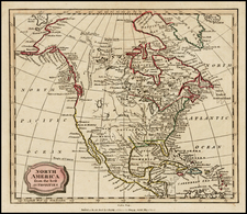 North America Map By Charles Brightly  &  E. Kinnersly