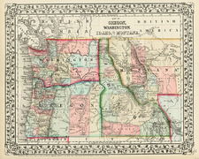 Rocky Mountains Map By Samuel Augustus Mitchell Jr.