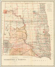 Plains and North Dakota Map By General Land Office