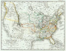 United States Map By Adolf Stieler