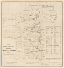 South, Plains, Nebraska and Oklahoma & Indian Territory Map By Washington Hood