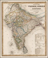 India Map By Adolf Stieler
