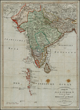 India Map By Weimar Geographische Institut