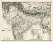 India and Central Asia & Caucasus Map By Archibald Fullarton & Co.
