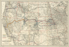 United States, Texas, Plains, Southwest, Rocky Mountains and California Map By G.W.  & C.B. Colton