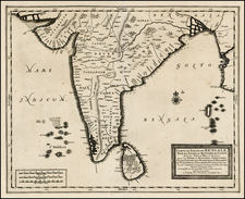 India and Other Islands Map By Pieter van der Aa