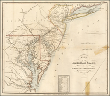 Mid-Atlantic and Southeast Map By John Melish