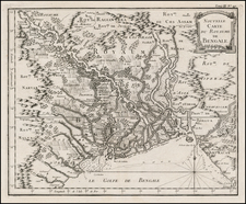 India Map By Jacques Nicolas Bellin