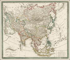 Asia and Asia Map By Johann Walch