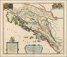 Balkans Map By Johannes Blaeu / Abraham Wolfgang