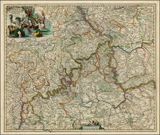 Germany Map By Johannes De Ram