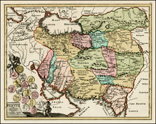 Central Asia & Caucasus and Middle East Map By Christopher Weigel