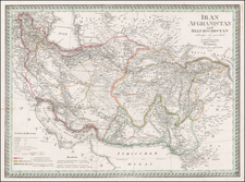 Central Asia & Caucasus and Middle East Map By Carl Ferdinand Weiland