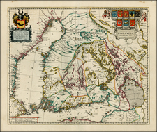 Finland Map By Johannes Blaeu