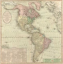 South America and America Map By Carrington Bowles  &  Jonathan Carver