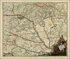 Austria, Hungary and Balkans Map By Johannes De Ram